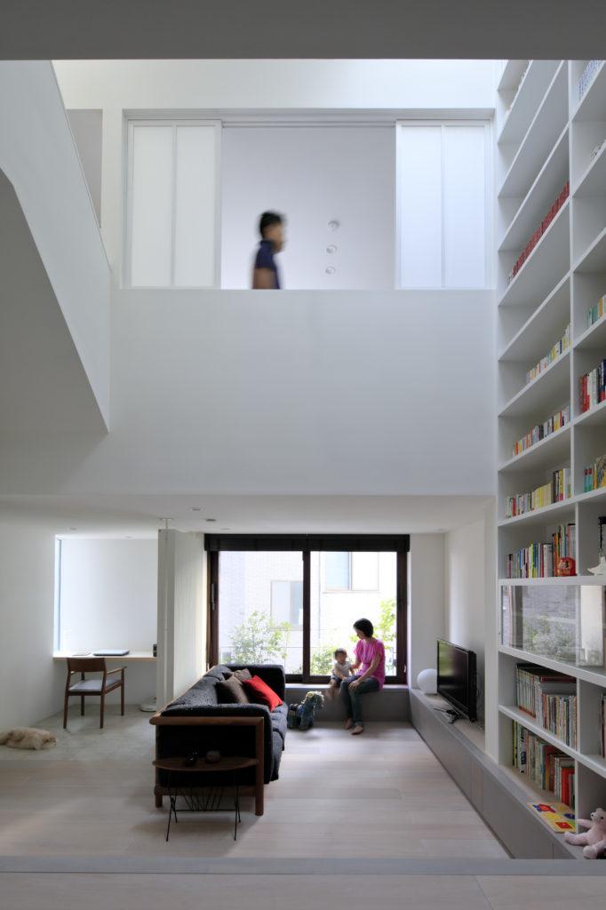 高輪の家 リビング・書斎